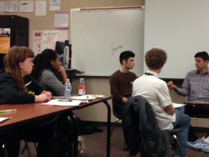 Students at Garfield High School receive restorative justice training from King County's Office of Alternative Dispute Resolution